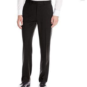 Louis Raphael Rosso Black Flat Front Dress Pant